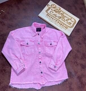 AAC - Pink Energy Denim Jacket