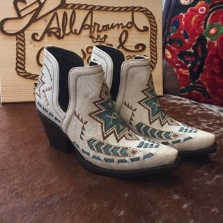 AAC - Ariat Bootie - Aztec Crackled White