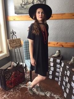 AAC - Black Short Sleeve Dress by L&B