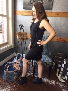 AAC - Sleeveless Black Dress by L&B