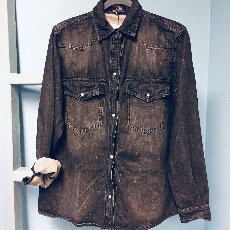 AAC - Black Denim Wash Distressed Plus Size