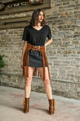 AAC - Wrapped Up In Fringe - Western Style Belt