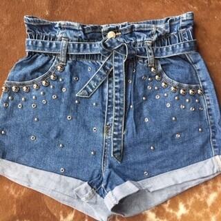 AAC - Ima Rock Star! - Studded Denim Shorts