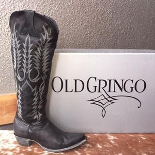 "AAC - Tall Tops 18"" Mayra - Black Old Gringo Boots"