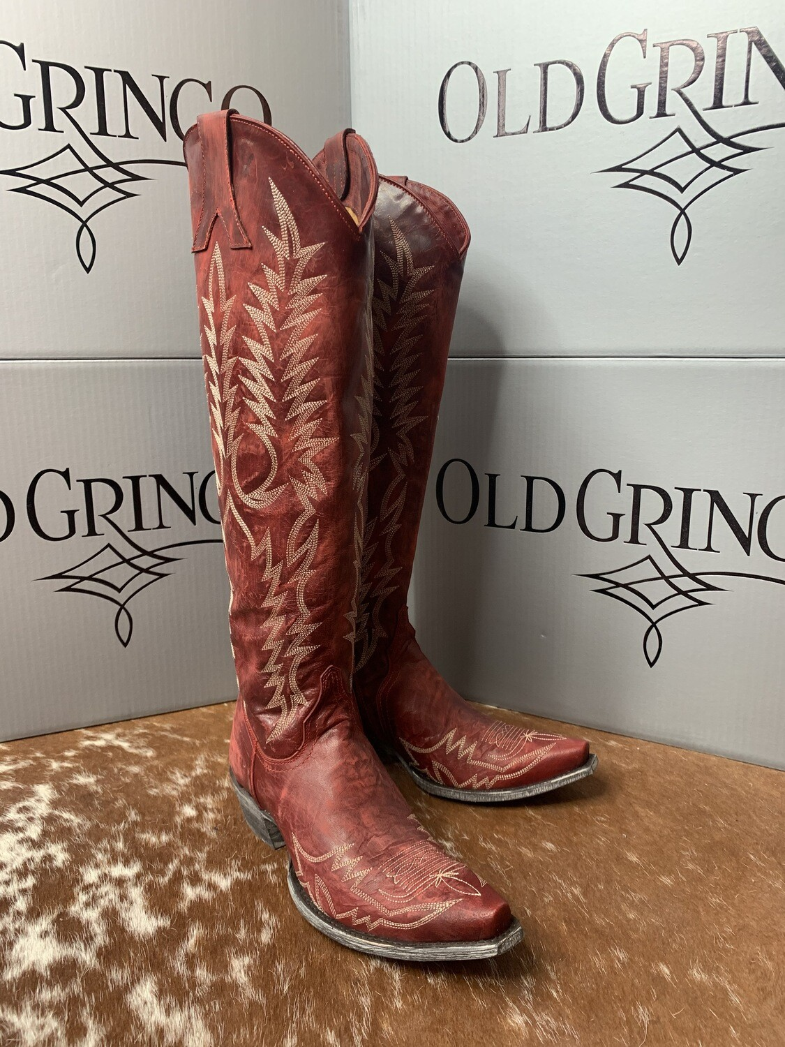 """AAC - Tall Tops 18"""" Mayra - Red Old Gringo Boots"""