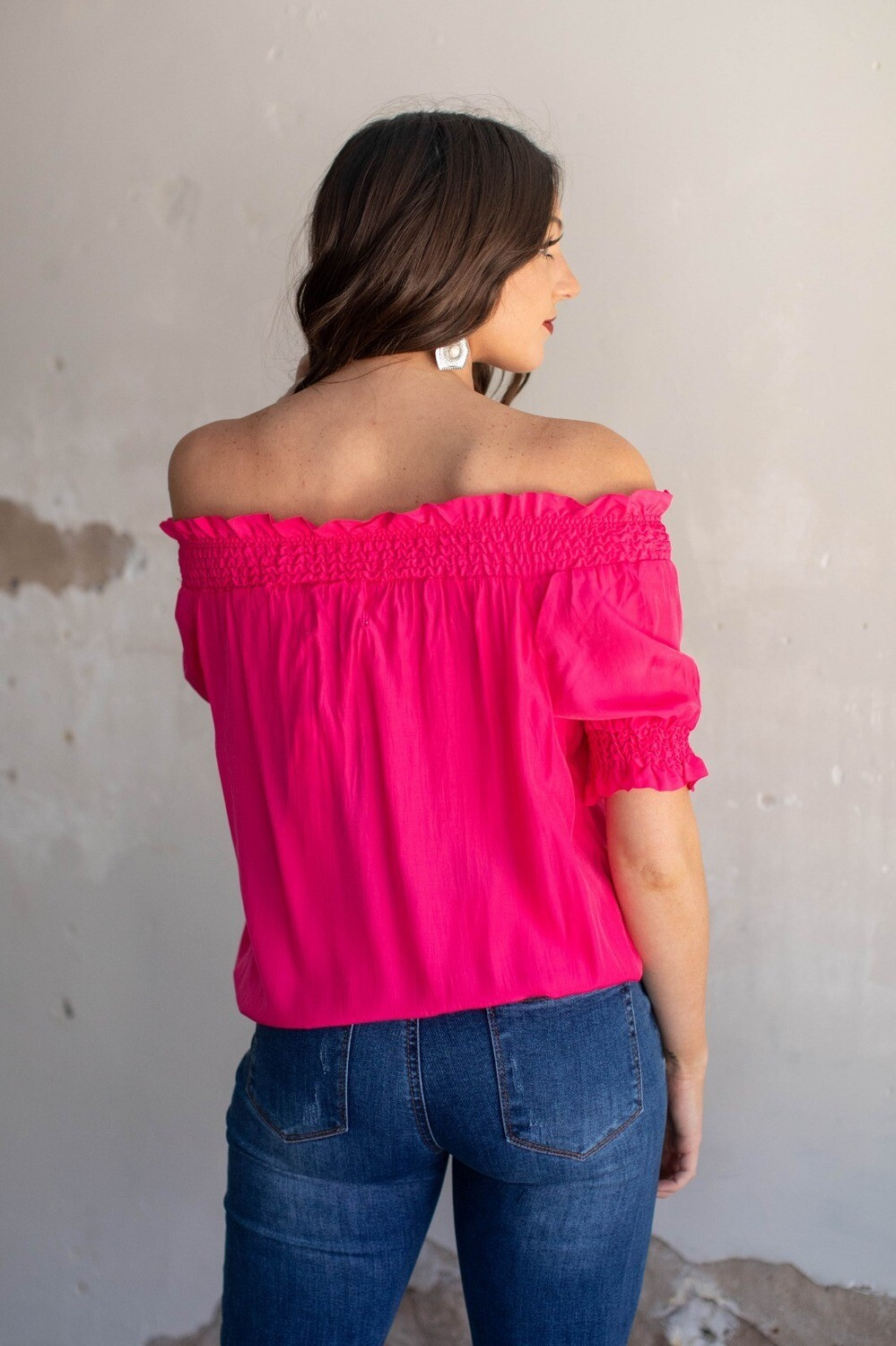 AAC - Pink Peasant Blouse
