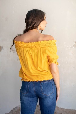 AAC - Yellow Peasant Blouse
