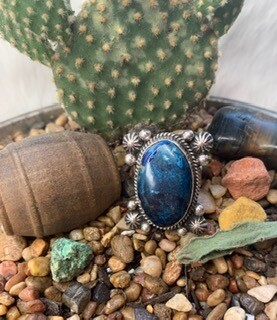 AAC - Big Blue Turquoise & Sterling Ring