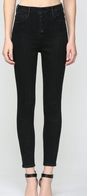 AAC - Black High Rise Skinny Jeans - Hidden