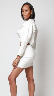 AAC - White Denim Knockout - 2 Pc. Jacket & Skirt