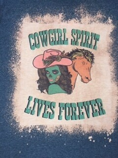 AAC - Cowgirl Spirit Lives Forever - T Shirt
