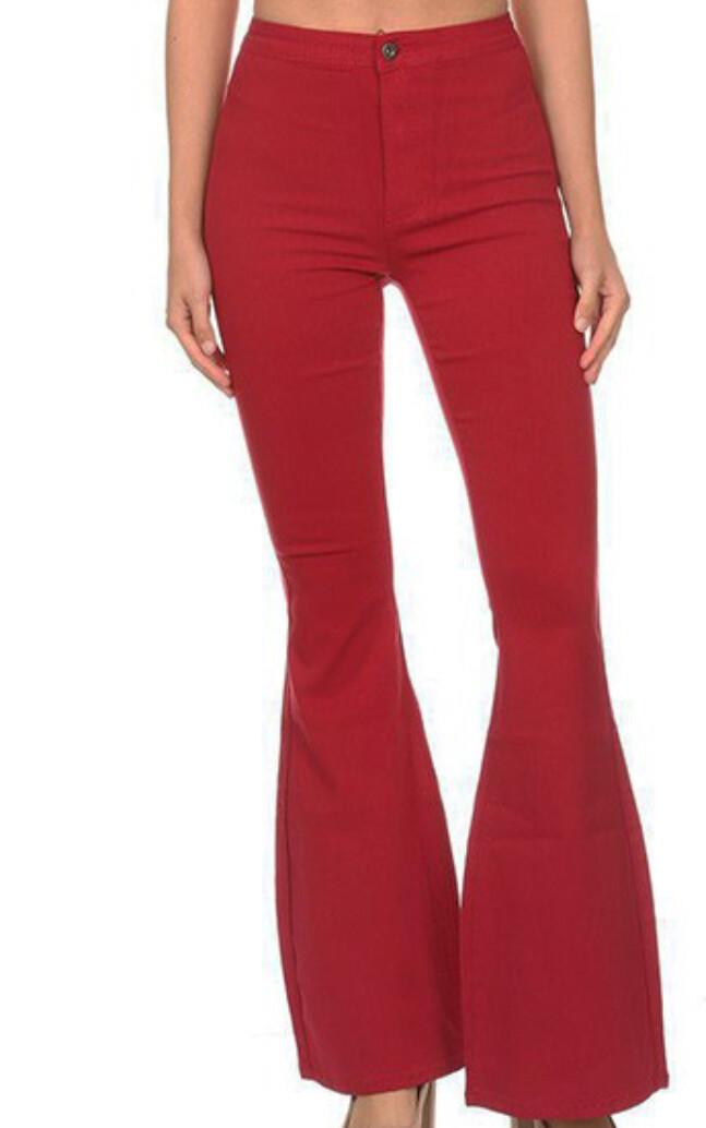 AAC - Disco Diva Burgandy Bell Bottom Jeans