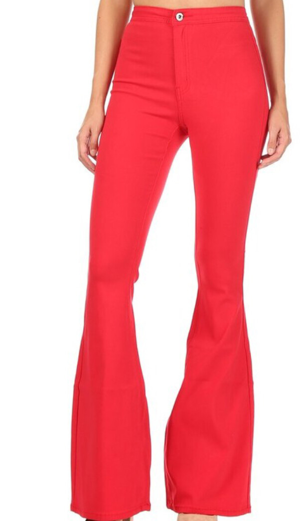 AAC - Disco Diva Red Bell Bottoms
