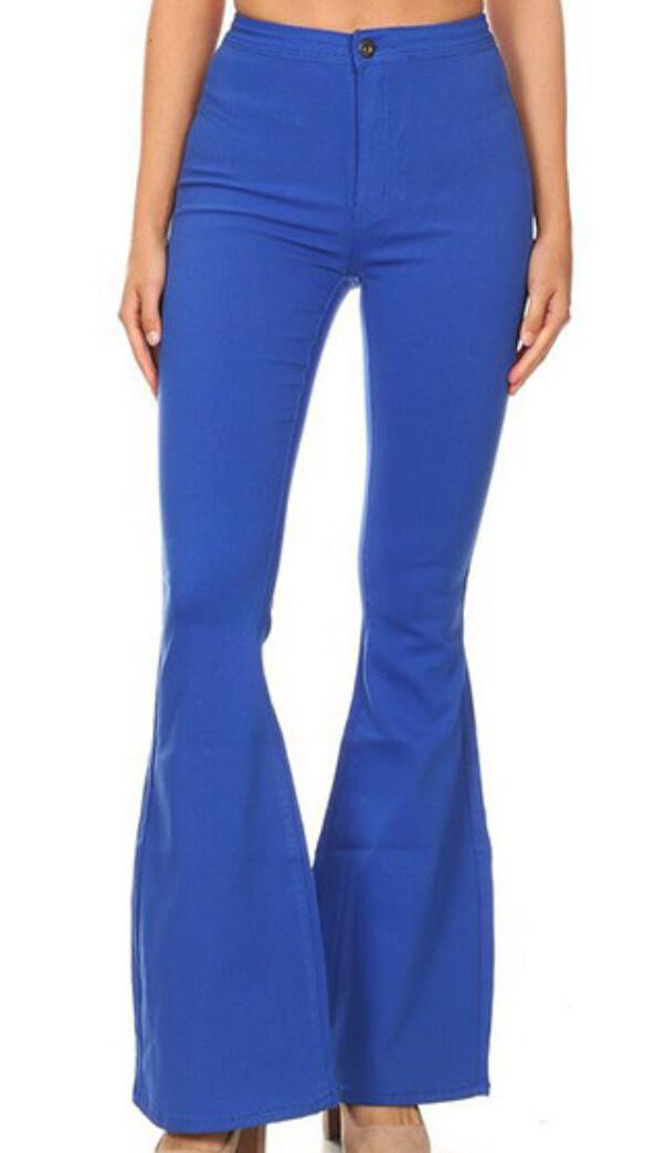 AAC - Disco Diva Royal Blue Bell Bottom Jeans