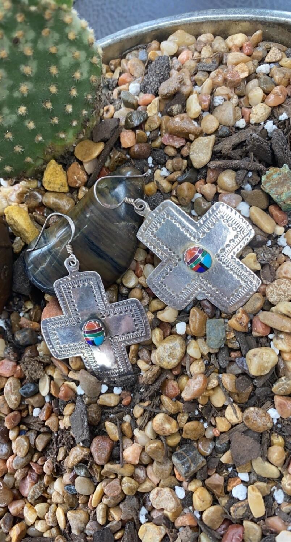 AAC - Zuni Cross Earrings