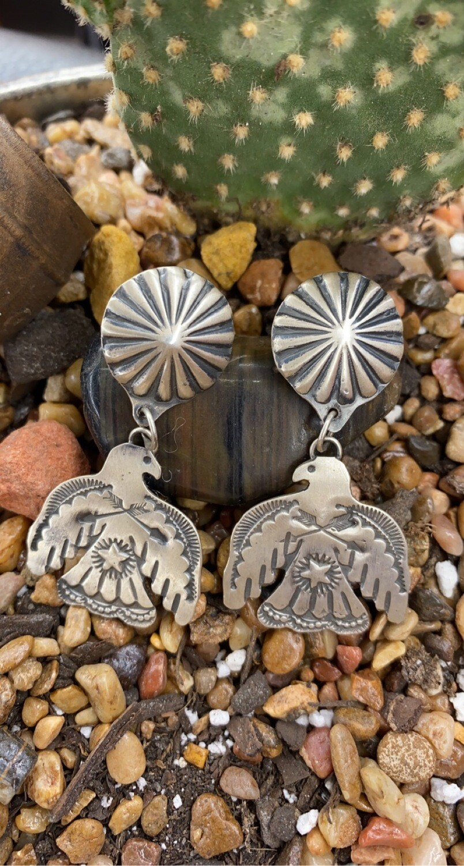 AAC - Thunderbird Earrings - Sterling