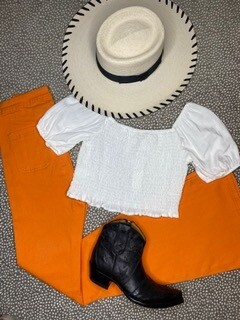 AAC - All Around Lil White Cowgirl Top