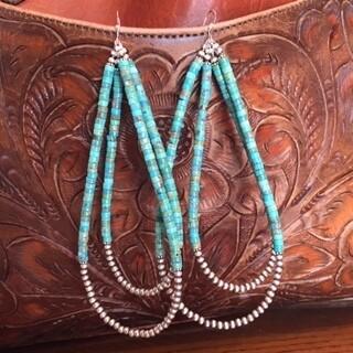 AAC - Navajo Sterling Silver Turq./Pearl Earrings