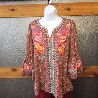 AAC - Savanna Jane - Rust Floral Embroidery -