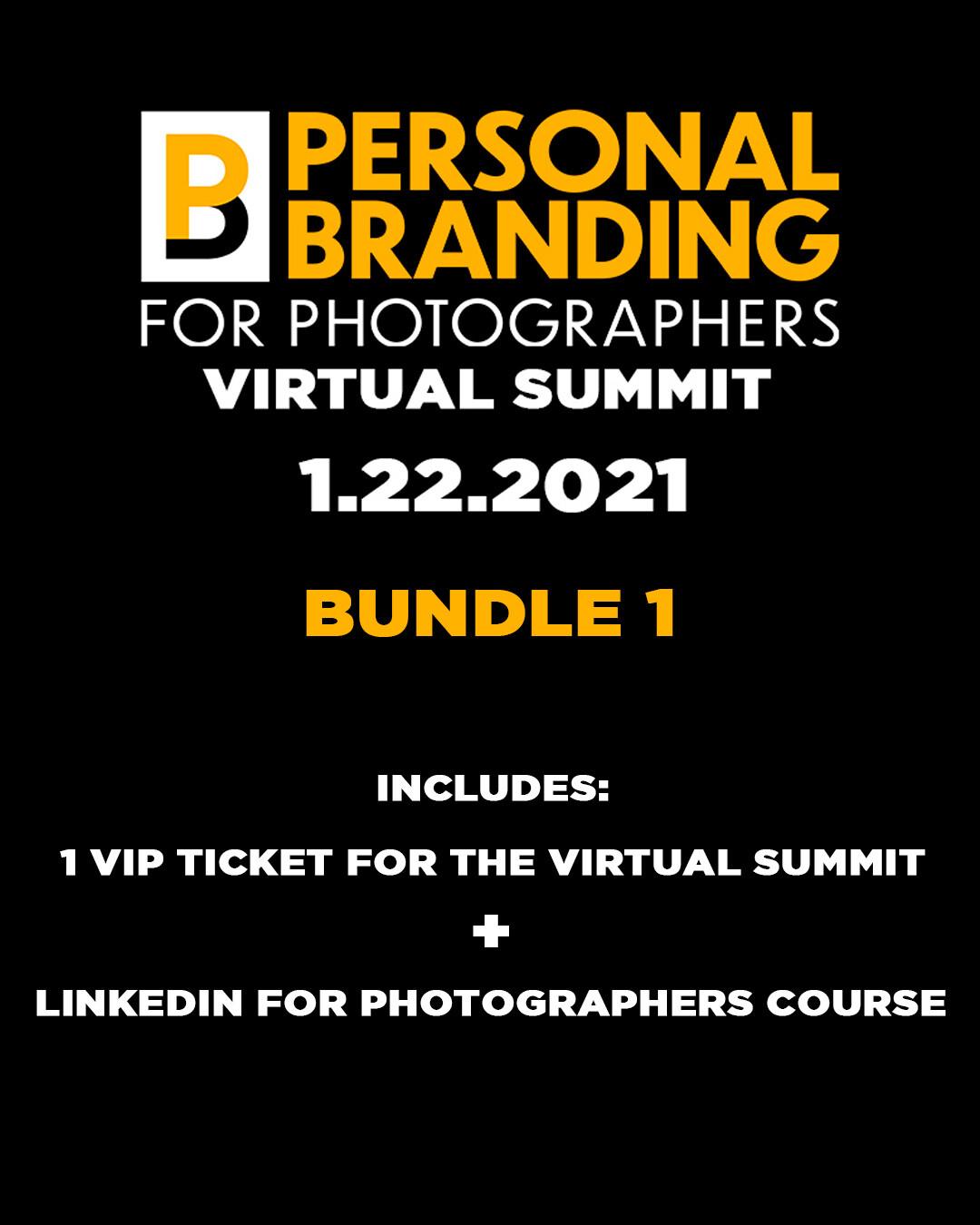 VIP Ticket + LinkedIn for Photographers bundle