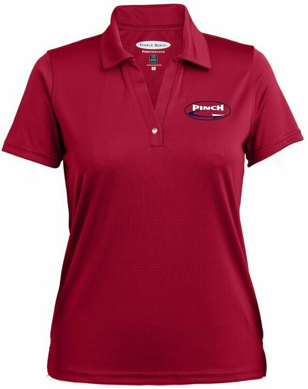 Ladies Pebble Beach Horizontal Textured Polo - Available in 3 colors