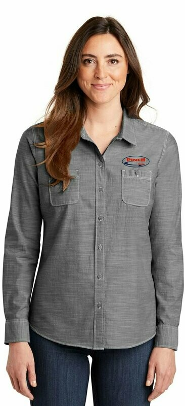 Port Authority® Ladies Slub Chambray Shirt