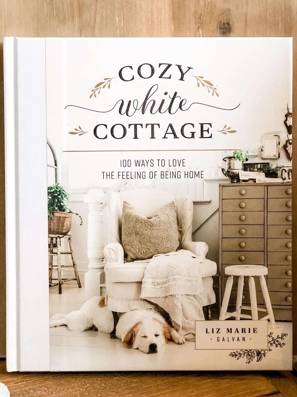 cozy white cottage book