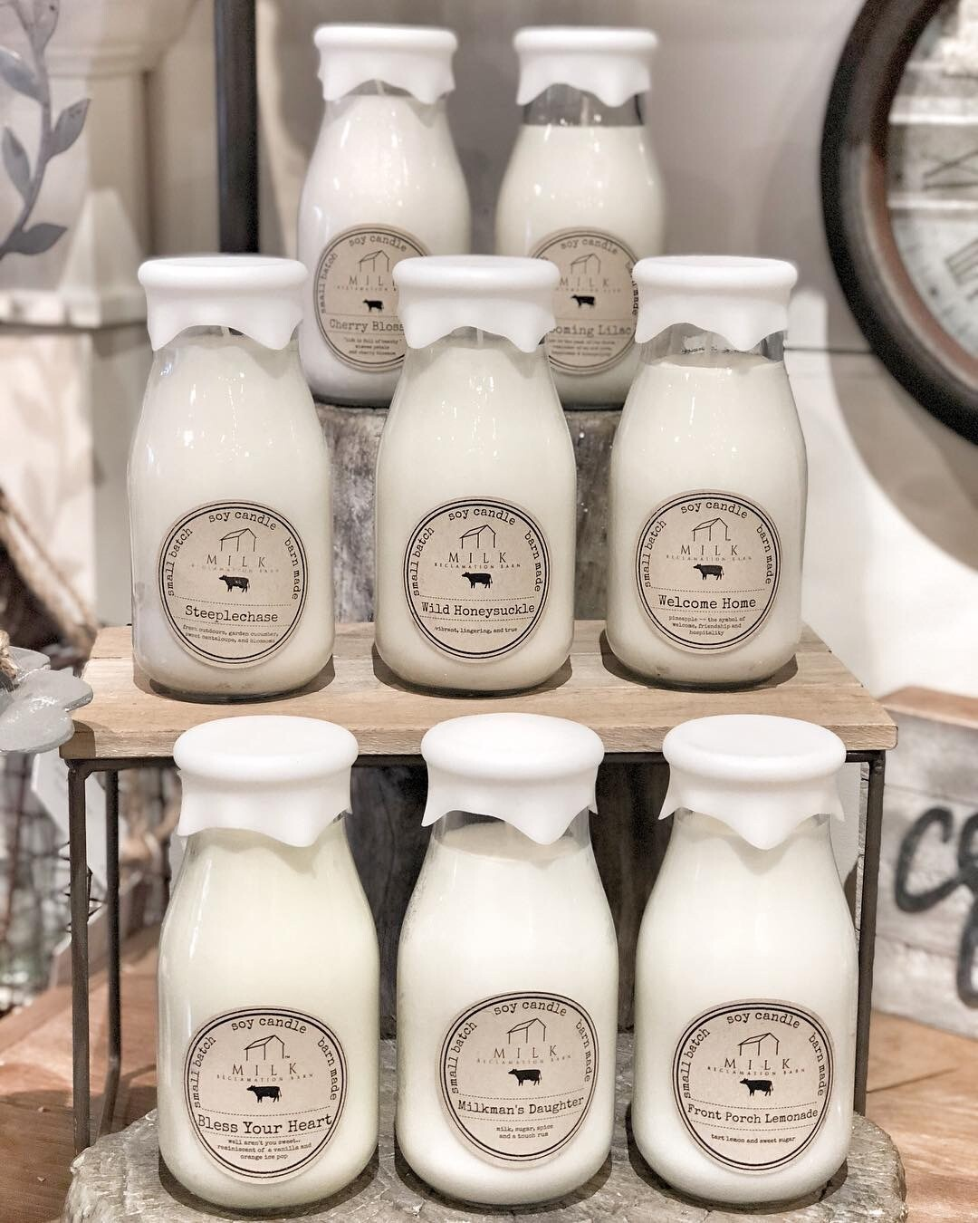 milk barn candles- bottle