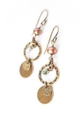 AV Crisp Autumn Mixed Metal Dangle Earrings #crisp004e