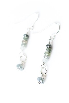 AV Resilience Simple Green Moss Aquamarine Dangle #resil007e