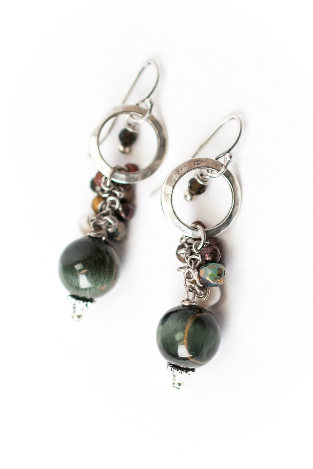 AV Willow Creek Cat's Eye Cluster Earrings #wil014e