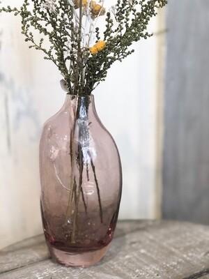Pink Dried Flower Vase no. 118