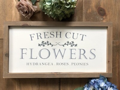 Fresh Flower Market Sign no.s120