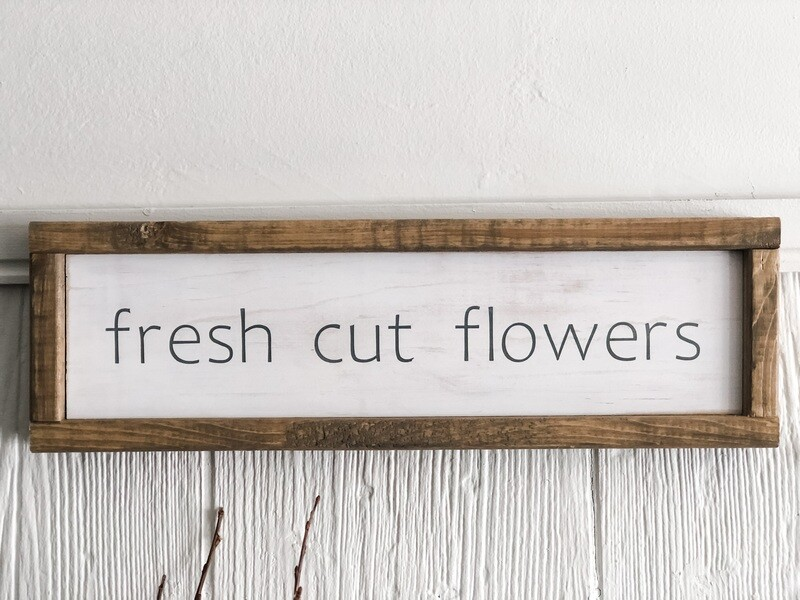 Fresh cut flowers sign no.s122
