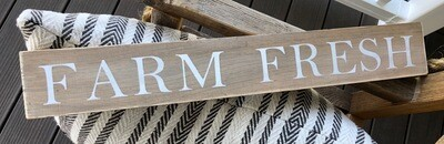 Farm fresh sign no. S132