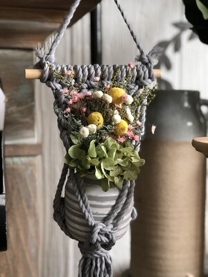 Mini Macrame plant hanger for Carolanne