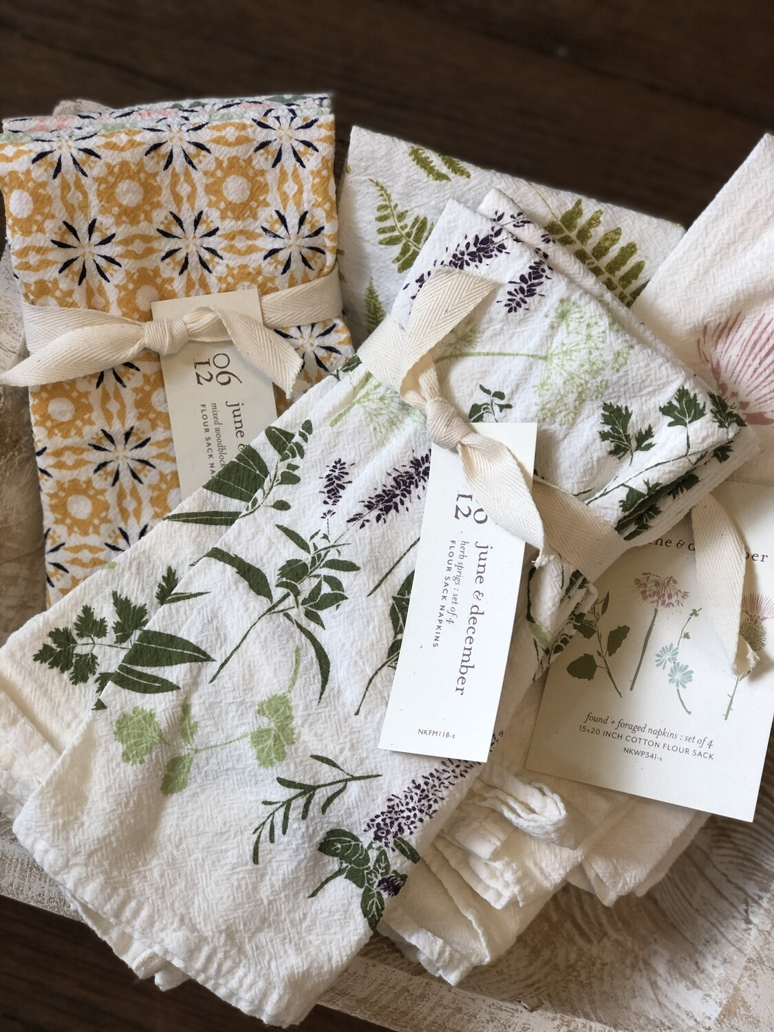 june & december napkins