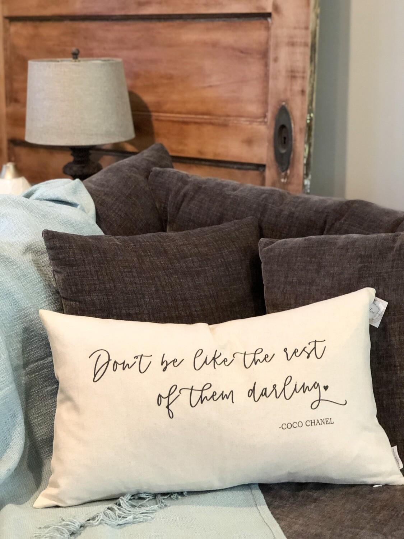 Coco Chanel pillow no. P145
