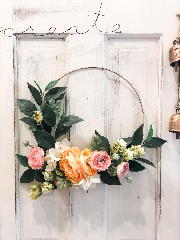 Brass Hoop Wreath no. 157