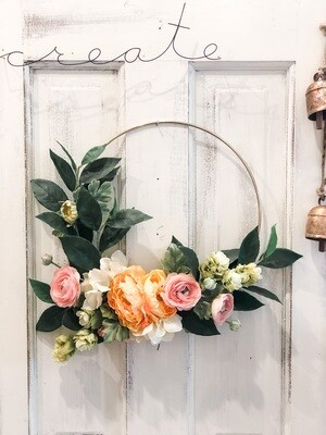 Brass Hoop Wreath no. 157