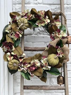 Fall Wreath - Burg Hydrangea No. 168