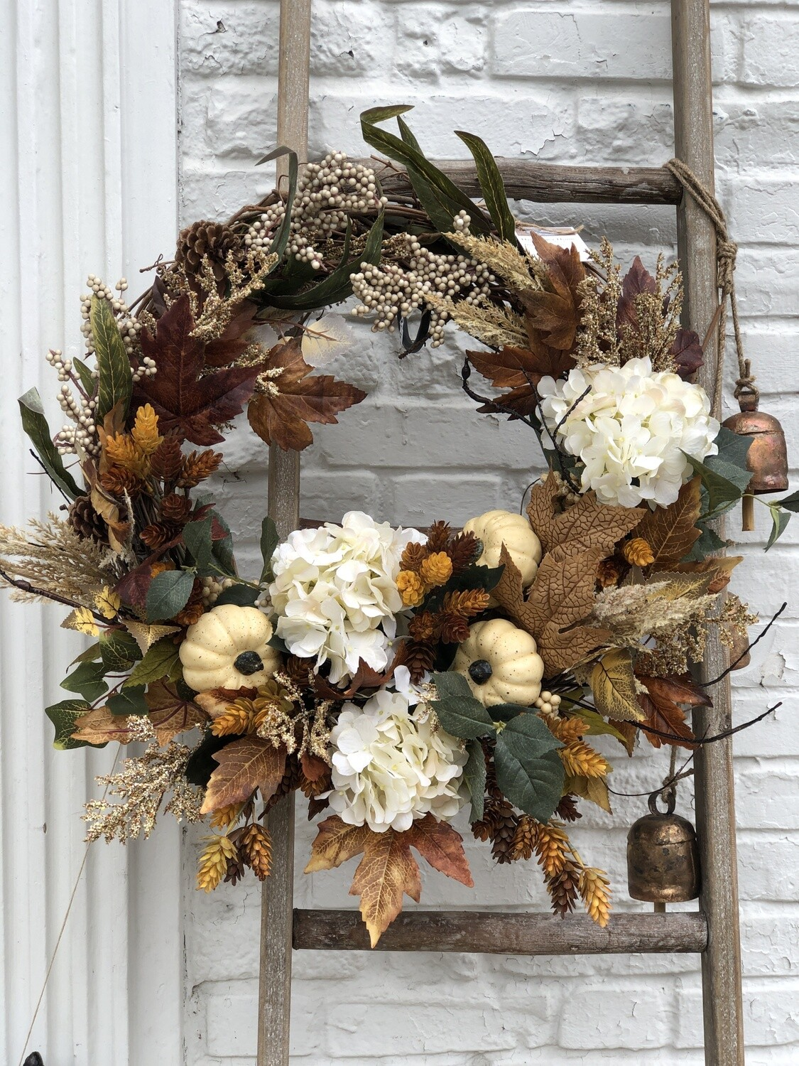 Fall Wreath with Hops no. 169