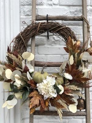 Fall Wreath Hydrangea/pumpkin no. 171