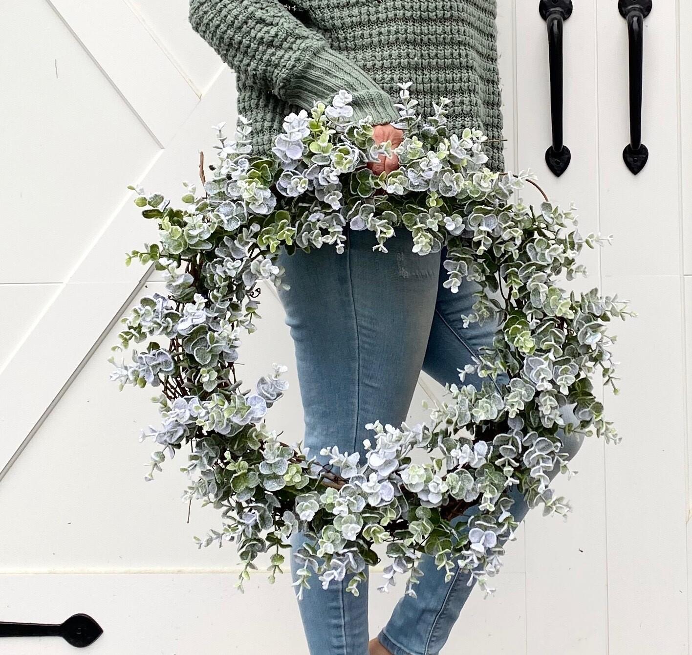 Frosty Eucalyptus Wreath no. 179