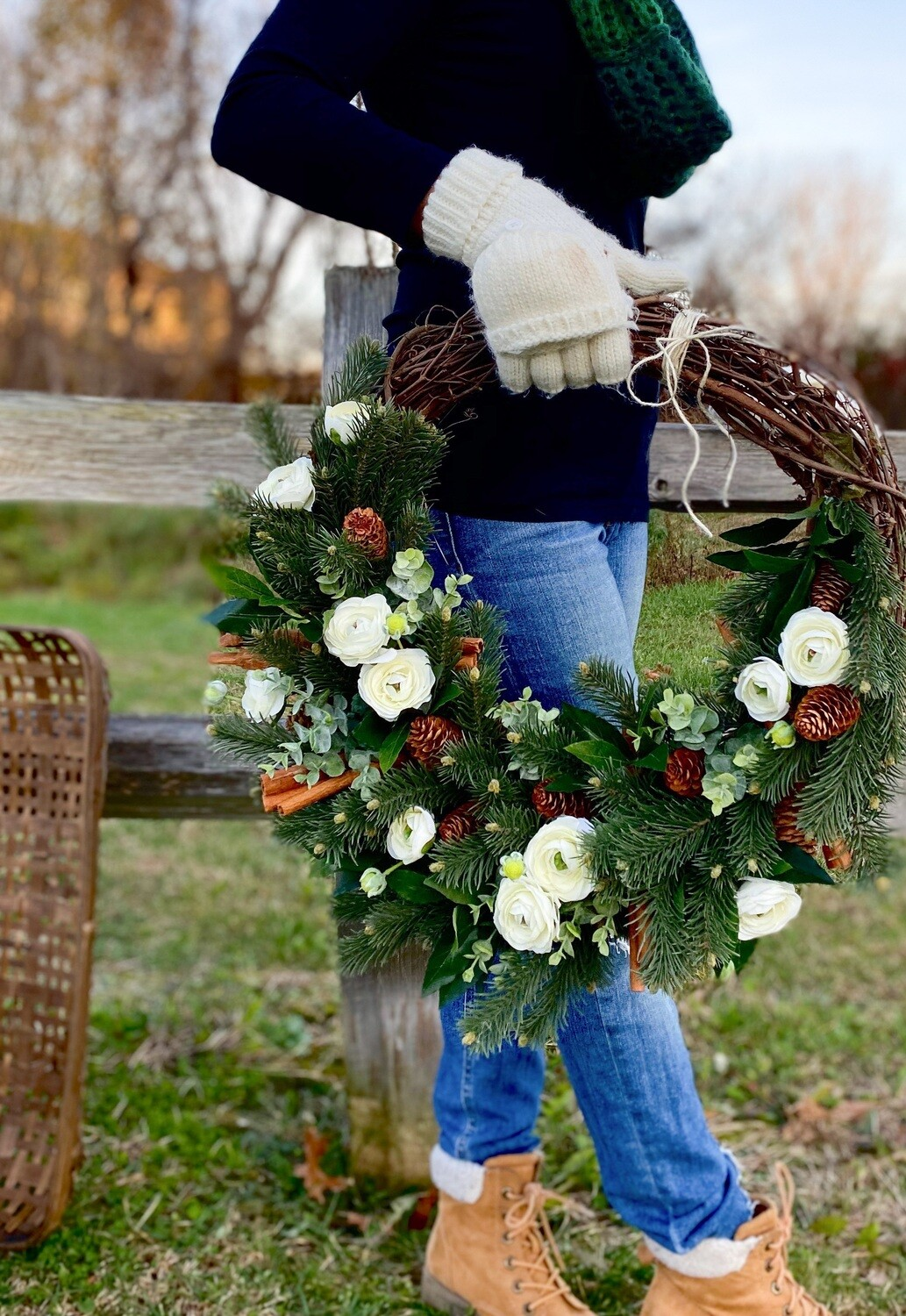 Winter wreath no. 183