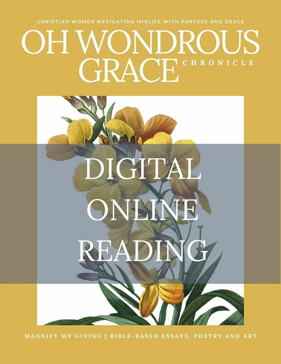 ONLINE DIGITAL READING- Magnify My Giving- Bible-Based Essays, Poetry and Art