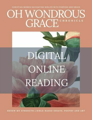 ONLINE DIGITAL READING- Renew My Strength- Bible-Based Essays, Poetry and Art