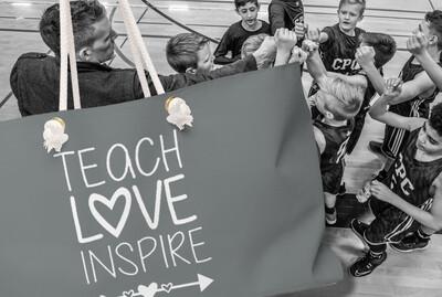 Teach Love Inspire - Weekender Bag