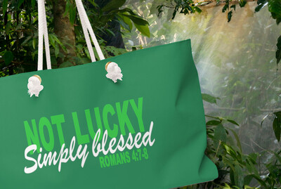 NOT LUCKY Simply Blessed  GREEN - Weekender Bag