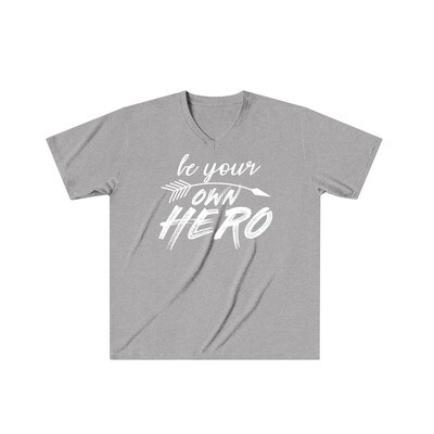 Be Your Own Hero - Adult VNeck - Tri-Blend